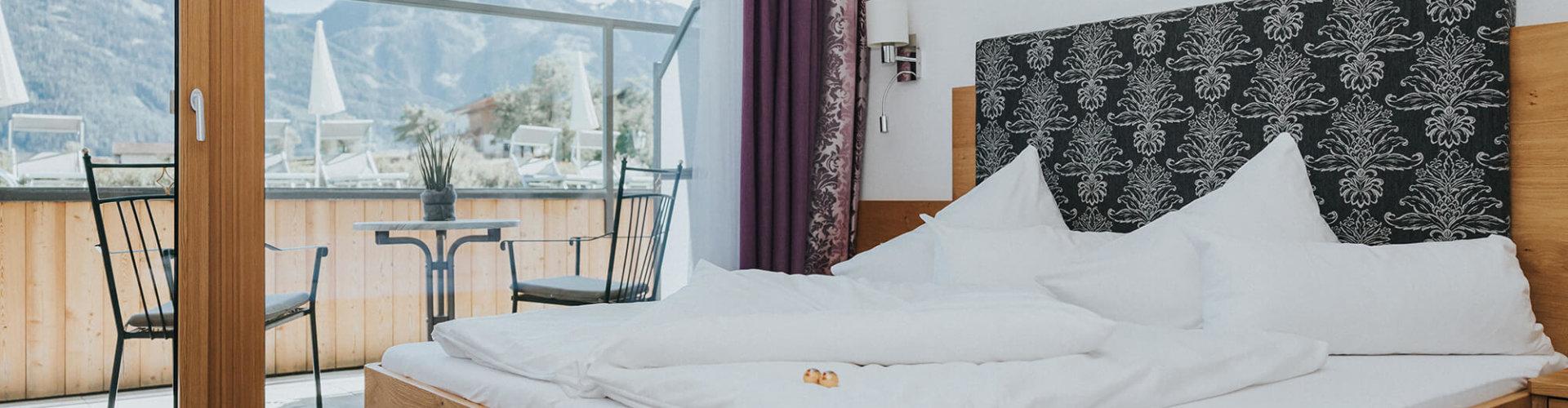 Panorama Gartenzimmer Bett