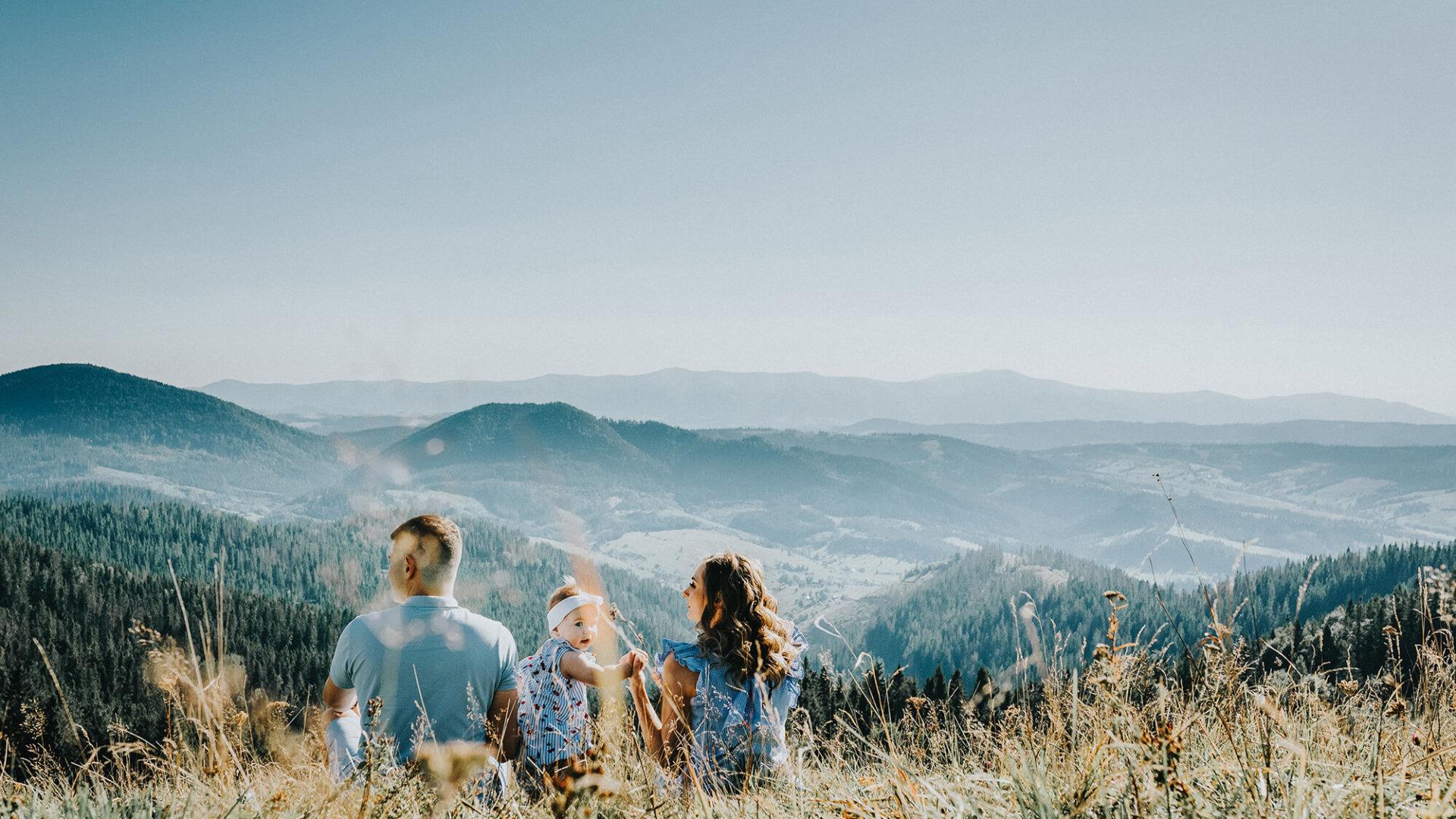 Goldene Zeiten in den Bergen, Aussicht beim Wandern